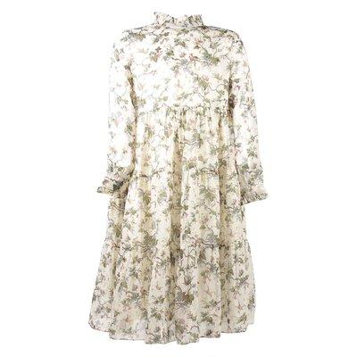 Floral print silk dress