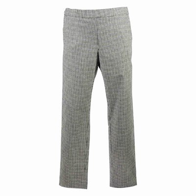 Vichy print virgin wool blend pants