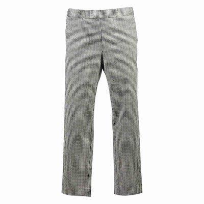 Vichy print virgin wool blend pants