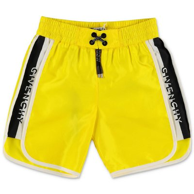 Givenchy fluorescent yellow nylon swim shorts