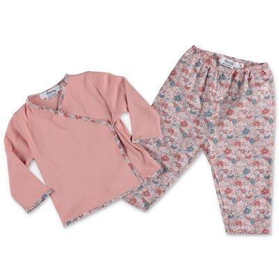 Bonpoint pink cotton t-shirt, pants & shopper bag set