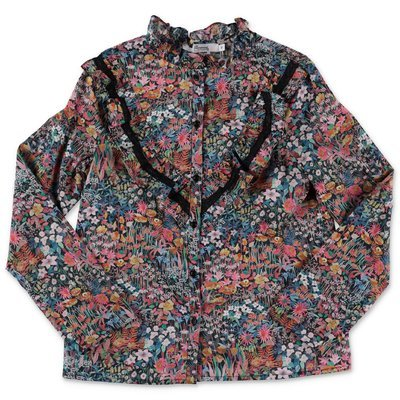 Bonpoint liberty print cotton poplin blouse