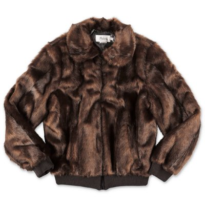 Bonpoint brown faux fur jacket