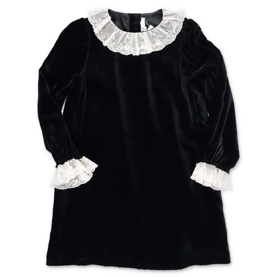 Bonpoint black velvet dress