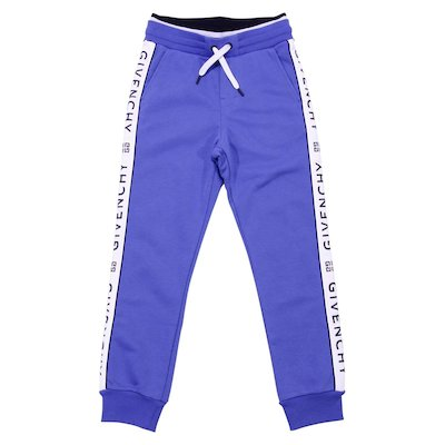 Blue cotton joggers