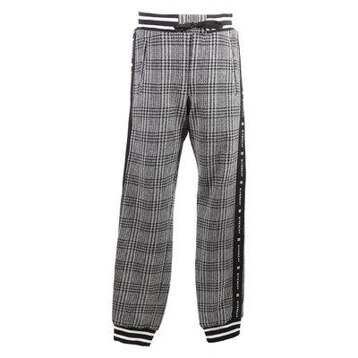 Pantaloni pied de poule in misto cotone stile casual