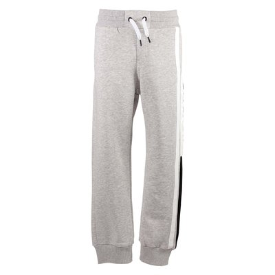 Melange grey logo detail cotton sweatpants