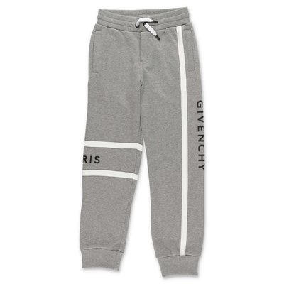 Givenchy melange grey logo detail cotton sweatpants
