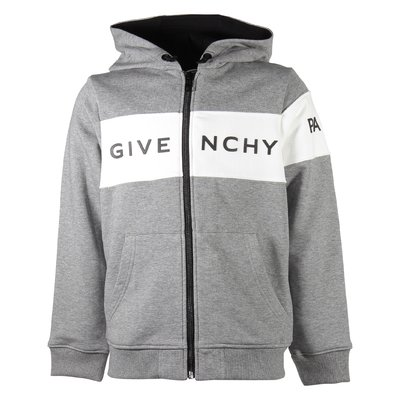 Marled grey Givenchy Paris logo cotton sweatshirt hoodie