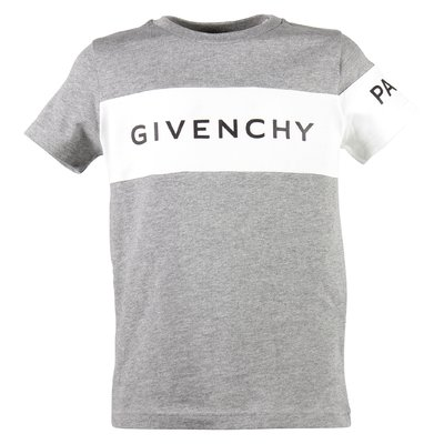 Marled grey logo cotton jersey t-shirt