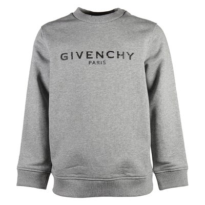 Marled grey vintage logo cotton sweatshirt