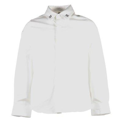 Camicia bianca oxford con logo