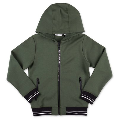 Givenchy military green cotton blend hoodie
