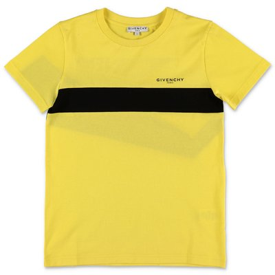 Givenchy t-shirt gialla in jersey di cotone con logo