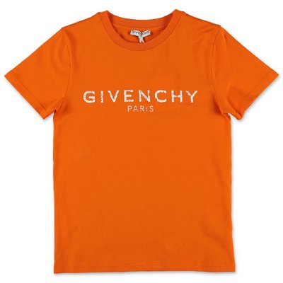 Givenchy orange Vintage logo cotton jersey t-shirt