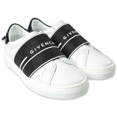 Givenchy white logo detail leather sneakers