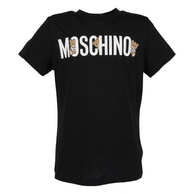 Black logo detail cotton jersey t-shirt