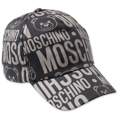 MOSCHINO black cotton canvas baseball cap