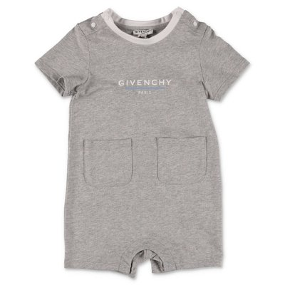 Givenchy melange grey cotton jersey romper