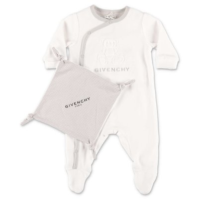 Givenchy white cotton romper & doudou set