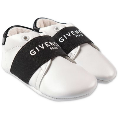 Givenchy white logo detail prewalker shoes
