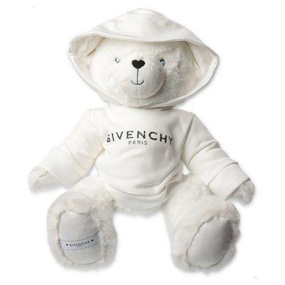 Givenchy pelunche bianco a forma di orso con felpa logata