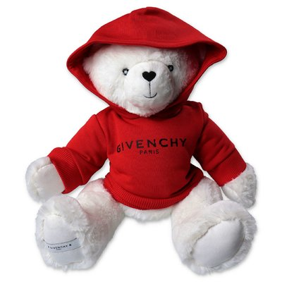 Givenchy white teddy bear with logo sweashirt hoodie