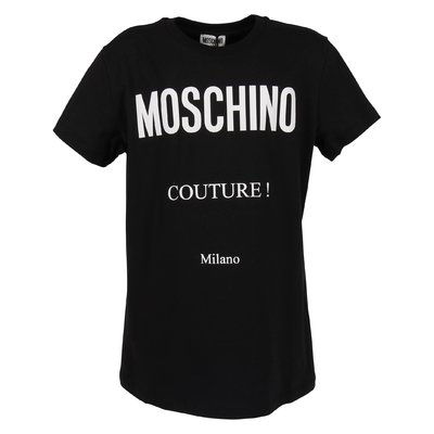 Black cotton jersey Moschino Couture t-shirt
