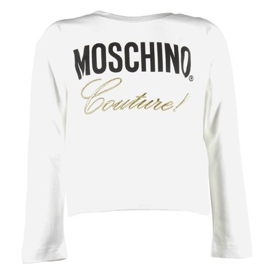 T-shirt bianca Moschino Couture in jersey di cotone