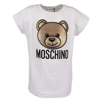 White cotton jersey Teddy Bear t-shirt