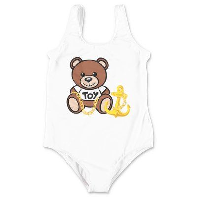 MOSCHINO Teddy Bear white lycra swimsuit