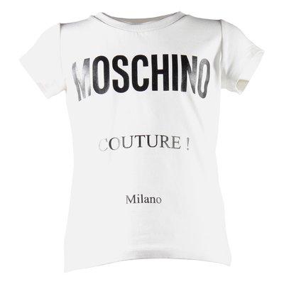 Moschino Couture white cotton jersey t-shirt