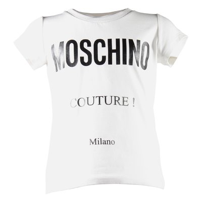Moschino Couture white cotton jersey t-shirt