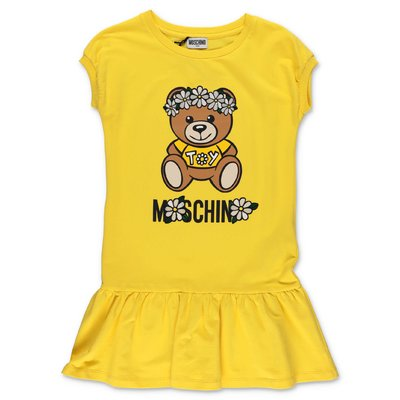 MOSCHINO Teddy Bear yellow cotton dress