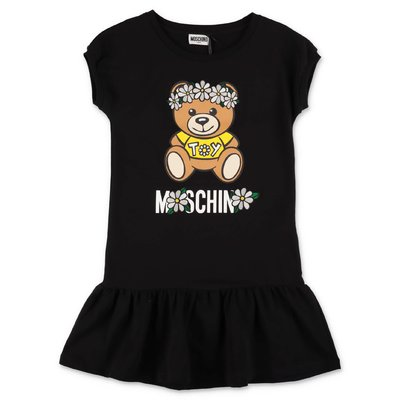 MOSCHINO Teddy Bear black cotton jersey dress