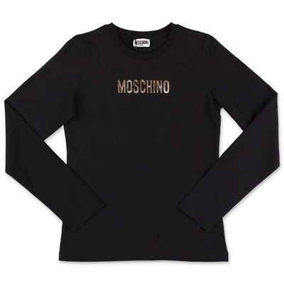 Moschino black logo detail cotton jersey t-shirt