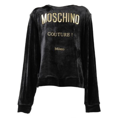 Moschino Couture black chenille sweatshirt