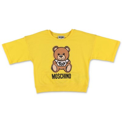 MOSCHINO t-shirt giallo limone Teddy Bear in jersey di cotone