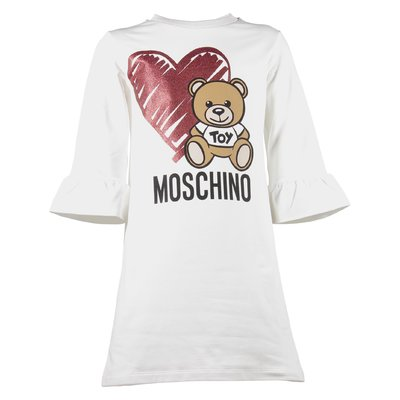 Teddy Bear white sweatshirt dress