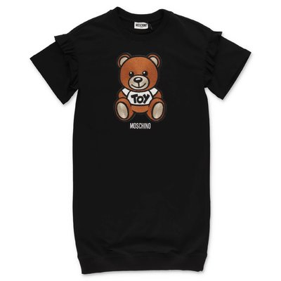 MOSCHINO Teddy Bear black cotton t-shirt dress