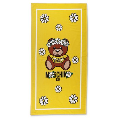 MOSCHINO Teddy Bear yellow terrycloth cotton beach towel