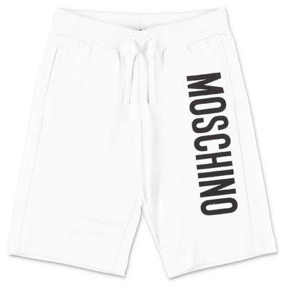 MOSCHINO shorts bianchi in felpa di cotone