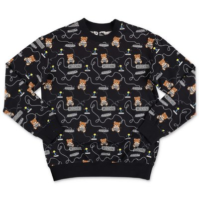 Moschino black logo detail cotton sweatshirt