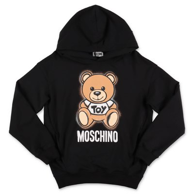 MOSCHINO black Teddy Bear cotton sweatshirt hoodie