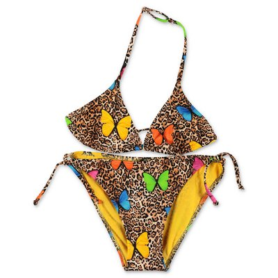 MC2 Saint Barth costume bikini animalier con farfalle in lycra
