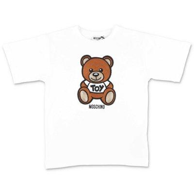 MOSCHINO white Teddy Bear cotton jersey t-shirt