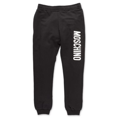 Moschino black cotton sweatpants
