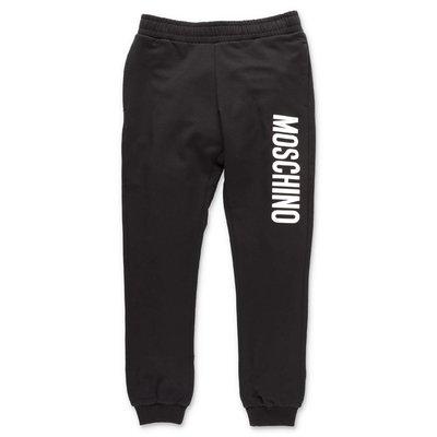 Moschino black cotton sweatpants