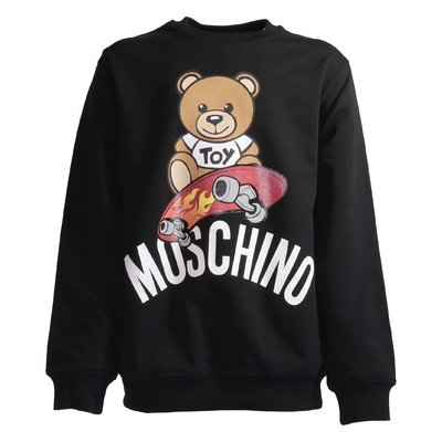 Black cotton Teddy Bear sweatshirt