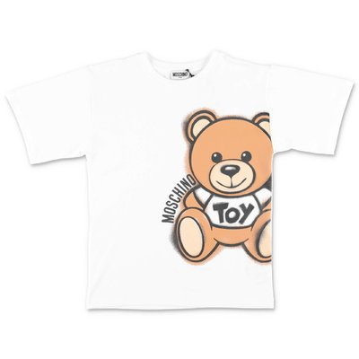 MOSCHINO t-shirt bianca Teddy Bear in jersey di cotone